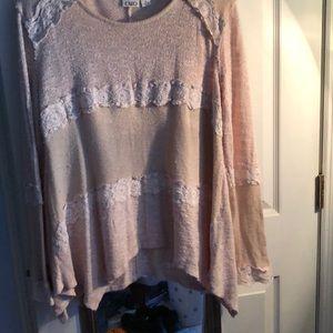 Cross knit sweater